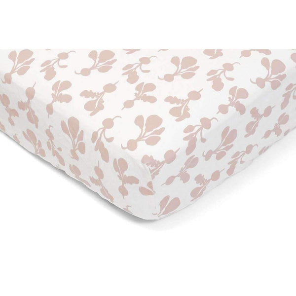 Lewis,Crib Sheet in Blush Radish,CouCou,Home/Decor
