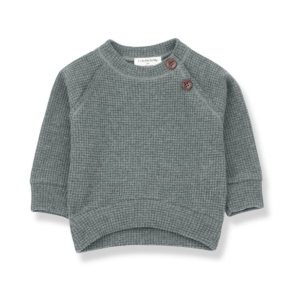 One more In The Family,Livigno Sweatshirt in Pine,CouCou,Boy Clothes