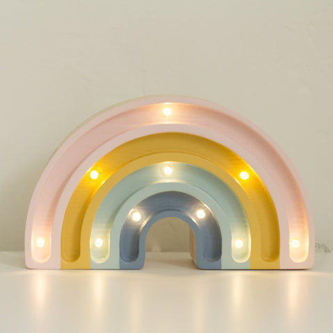 Mini Rainbow Lamp with Glitter - Retro