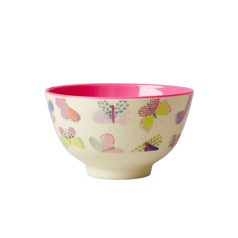Small Two Tone Bowl with Butterfly Print