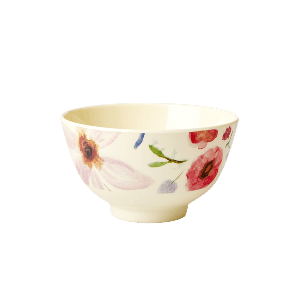 RICE,Small Bowl with Selmas Flower Print,CouCou,Kitchenware