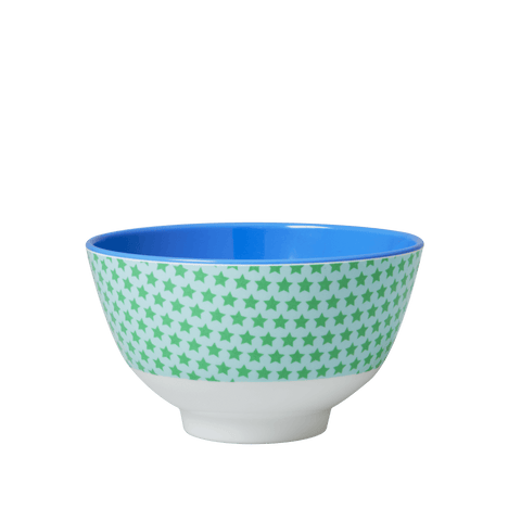 Small Two Tone Bowl with Boy Star Print