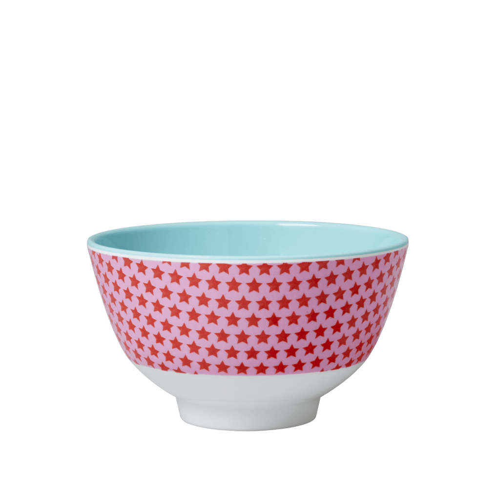 RICE,Small Two Tone Bowl with Girl Star Print,CouCou,Kitchenware