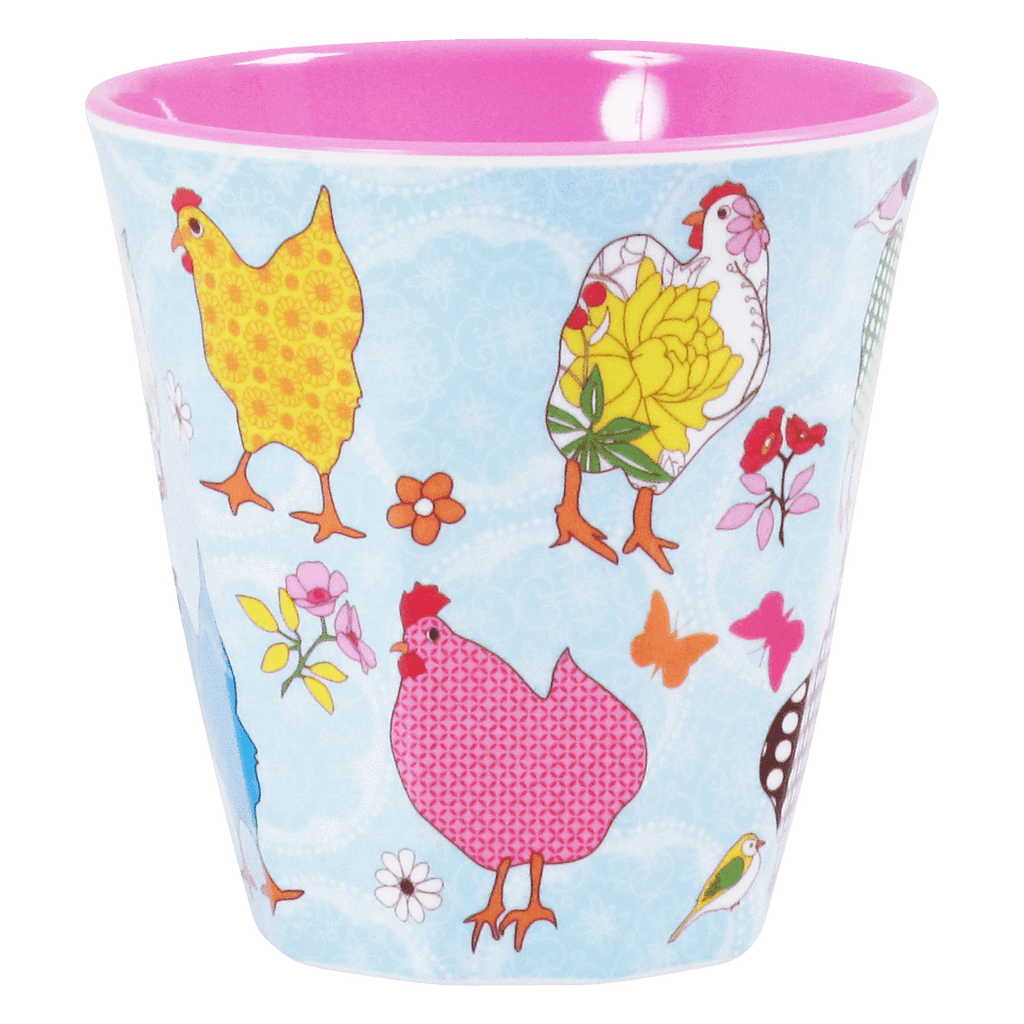 RICE,Cup with Hen Print,CouCou,Kitchenware