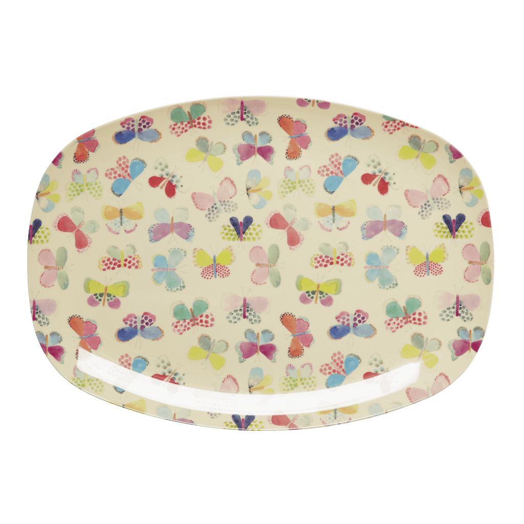RICE,Rectangular Plate with Butterfly Print,CouCou,Kitchenware