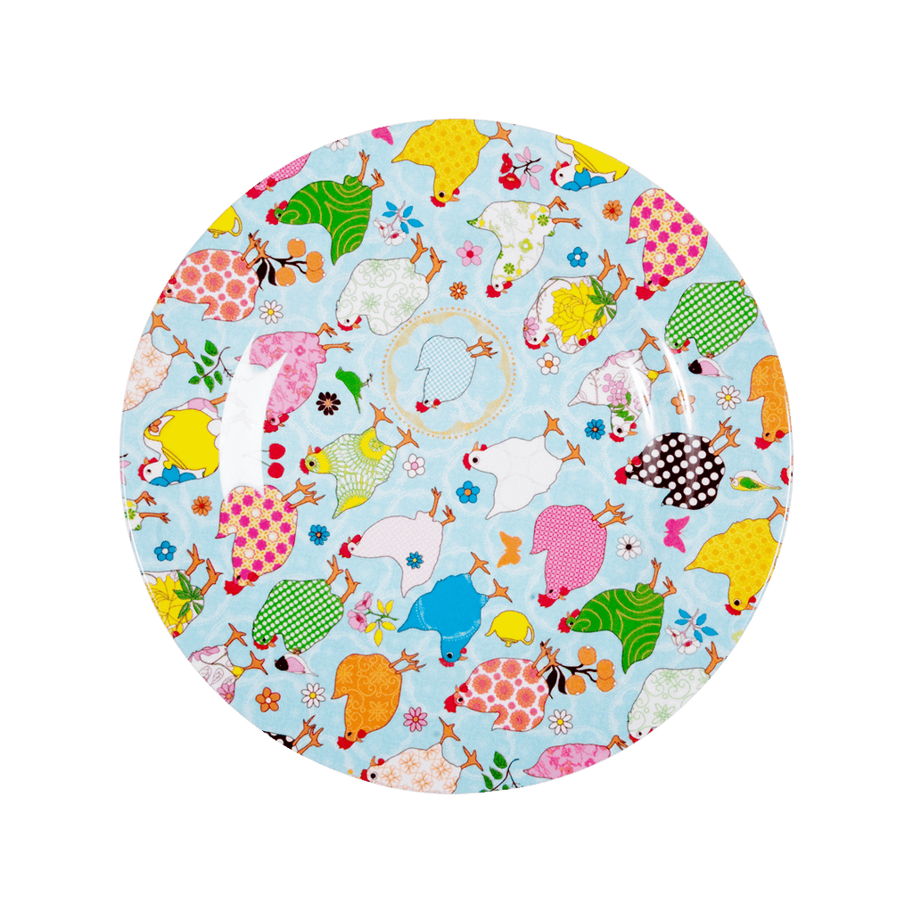 RICE,Lunch Plate with Hen Print,CouCou,Kitchenware