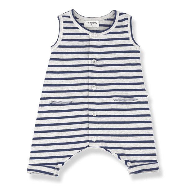 One more In The Family,Monaco Romper in Azzurro,CouCou,Baby Boy Clothes