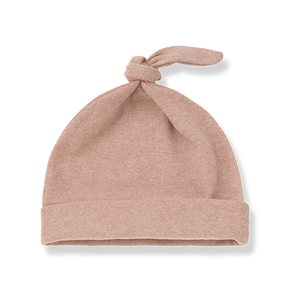 One more In The Family,Madrid Beanie w/ Knot in Rose,CouCou,Baby Accessories