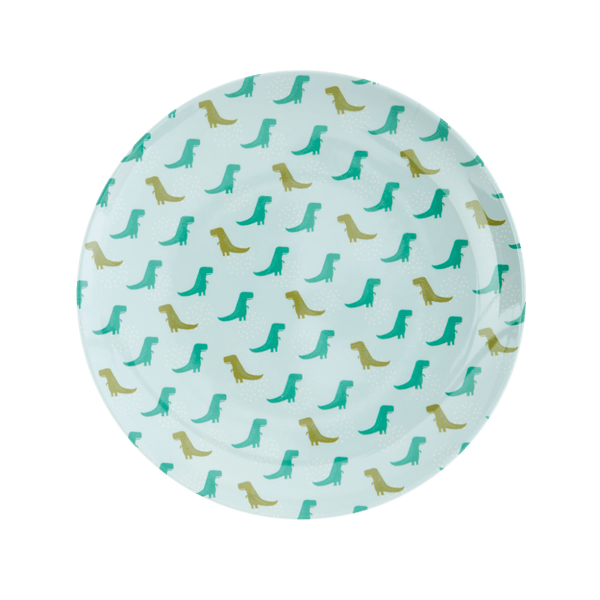 RICE,Lunch Plate with Dino Print,CouCou,Kitchenware