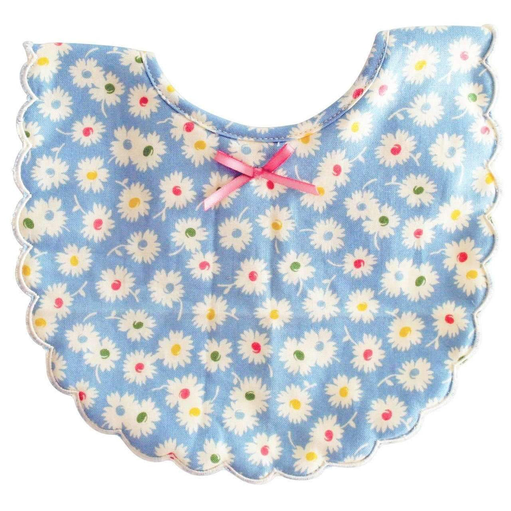 Alimrose,Scallop Bib in Blue Flower,CouCou,Baby Accessories
