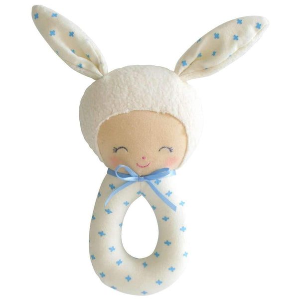 Alimrose,Charlie Grab Rattle, Blue,CouCou,Toy