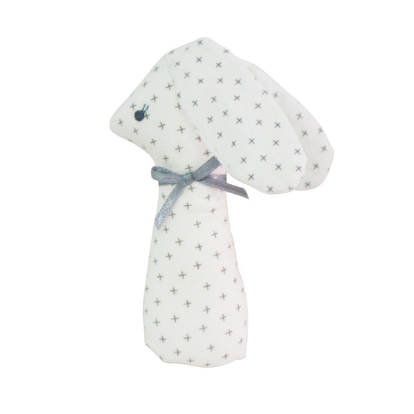 Alimrose,Standing Bunny Rattle in Grey Cross,CouCou,Toy
