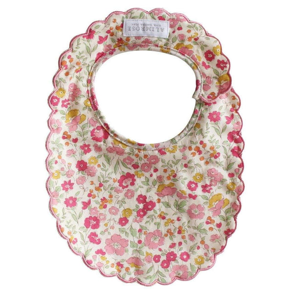 Alimrose,Scallop Bib in Rose Garden,CouCou,Baby Accessories
