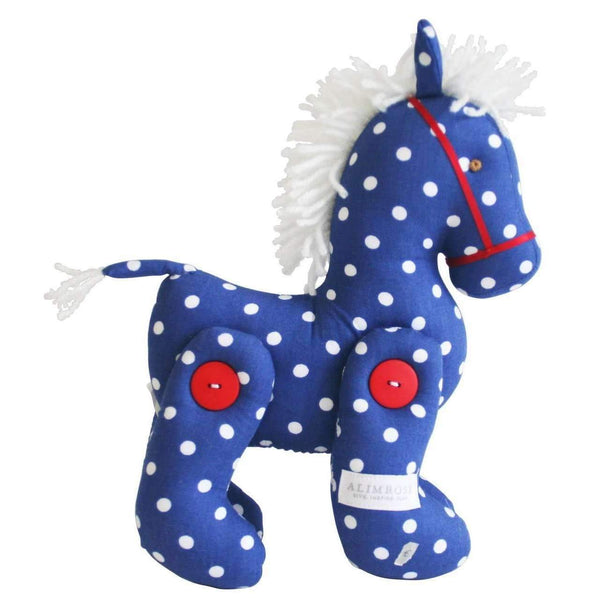 Alimrose,Jointed Pony in Navy Polka,CouCou,Toy