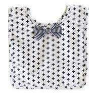 Alimrose,Bow Tie Bib in Swiss Cross,CouCou,Baby Accessories