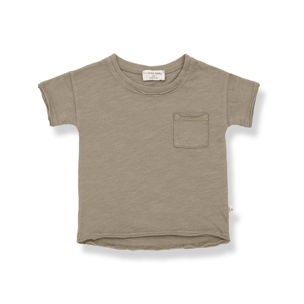 One more In The Family,Nani T-Shirt - Khaki,CouCou,Baby Boy Clothes