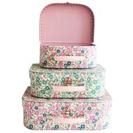 Alimrose,Suitcase Set in Petit Floral Teal/Pink,CouCou,Toy