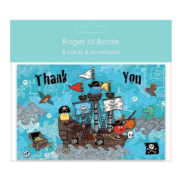 Roger La Borde,Pirate Monsters, Thank You Pack,CouCou,Crafts & Stationary