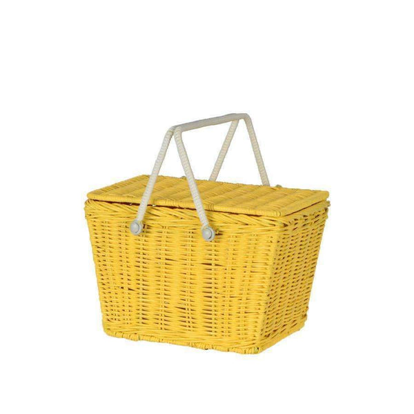 Olli Ella,Yellow Picnic Basket,CouCou,Accesories