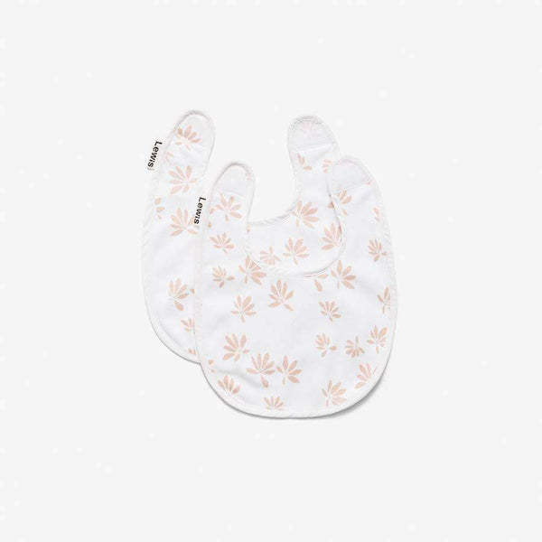 Lewis,Set of Two Bibs in Blush Palms,CouCou,Baby Accessories