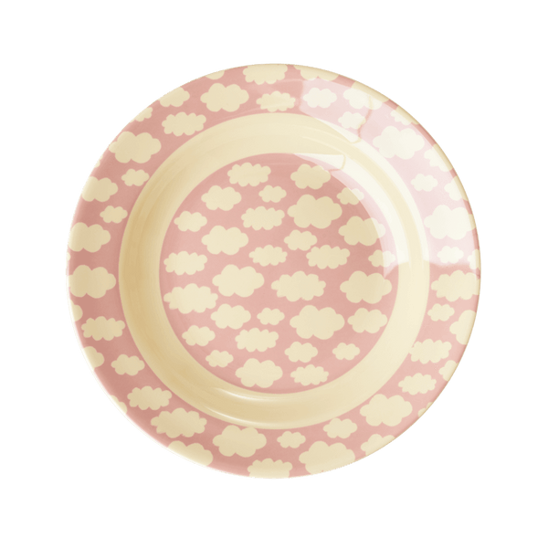 RICE,Bowl with Cloud Print, Pink,CouCou,Kitchenware