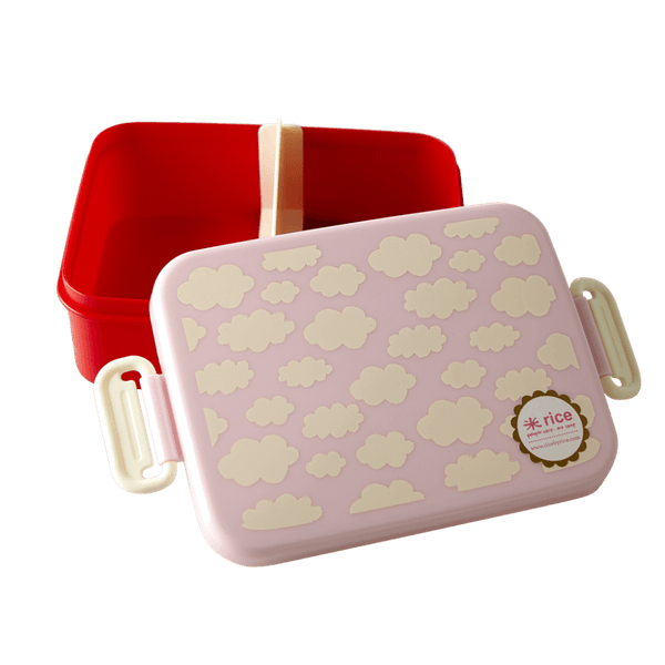 RICE,Lunch Box in Cloud Print, Pink,CouCou,Kitchenware