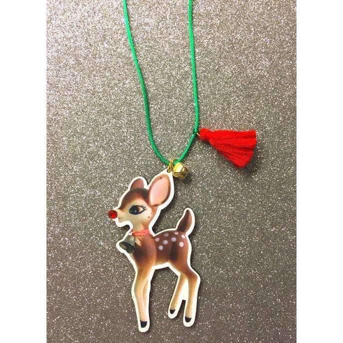 Gunner & Lux,Holiday Reindeer Necklace,CouCou,Girl Accessories & Jewellery