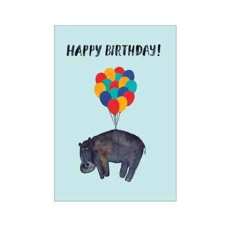 Roger La Borde,Hippo Birthday Card,CouCou,Crafts & Stationary