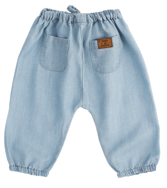 Tocoto Vintage,Tencel Pants in Blue,CouCou,Baby Boy Clothes