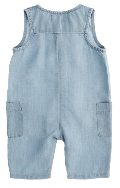 Tocoto Vintage,Baby Tencel Jumpsuit in Blue,CouCou,Baby Boy Clothes