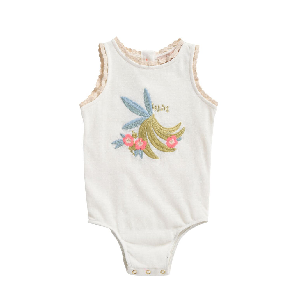 Louise Misha,Nanane Bodysuit in White,CouCou,Baby Girl Clothes