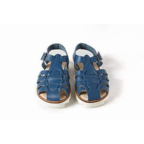Bobo Blue Leather Sandals