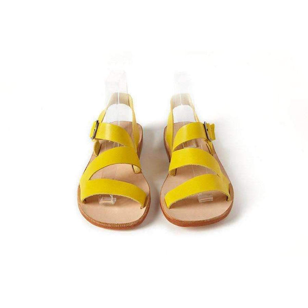 Sonatina,Milano Citron Leather Sandals,CouCou,Girl Shoes, Socks & Tights