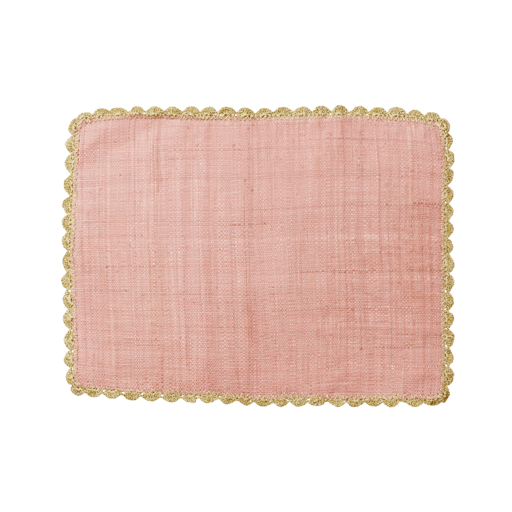 RICE,Raffia Placemat in Pink,CouCou,Kitchenware