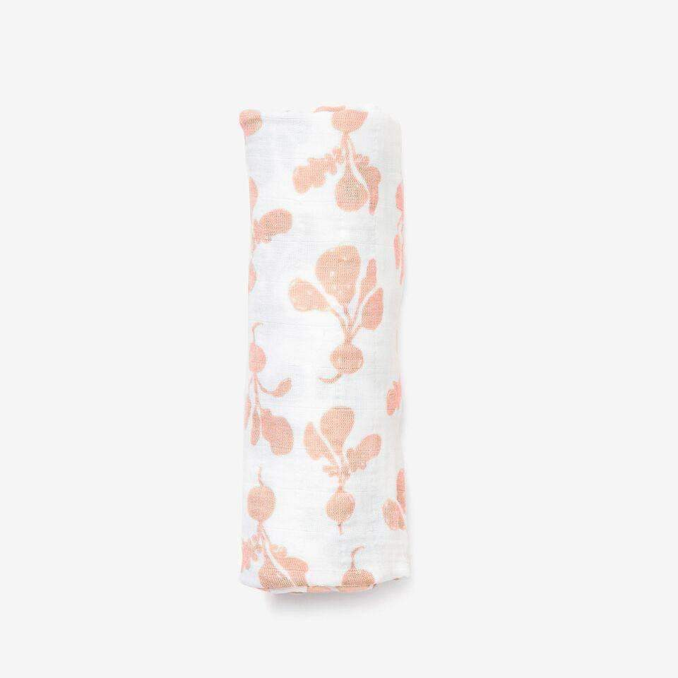 Lewis,Swaddle in Blush Radish,CouCou,Home/Decor