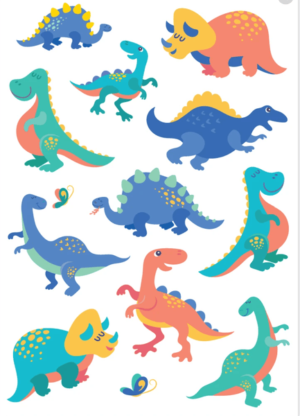Cute Dinos Tattoos