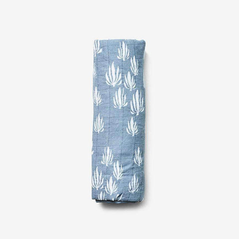 Swaddle in Inverse Seaweed Blue Bay