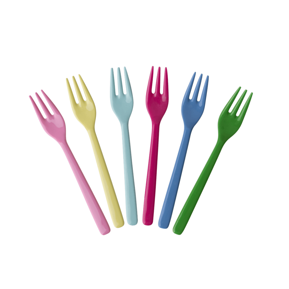 RICE,6 Forks in Assorted Classic Colors,CouCou,Kitchenware
