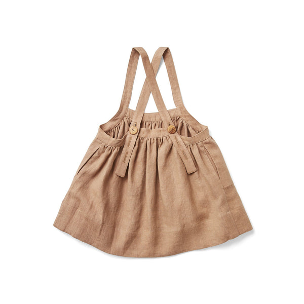 Soor Ploom,Eloise Pinafore Dress in Moth,CouCou,Girl Clothes