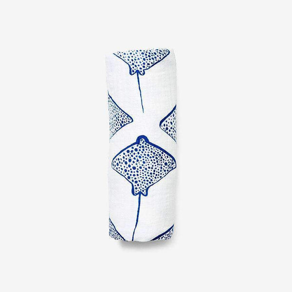 Lewis,Swaddle in Blue Stingray,CouCou,Home/Decor