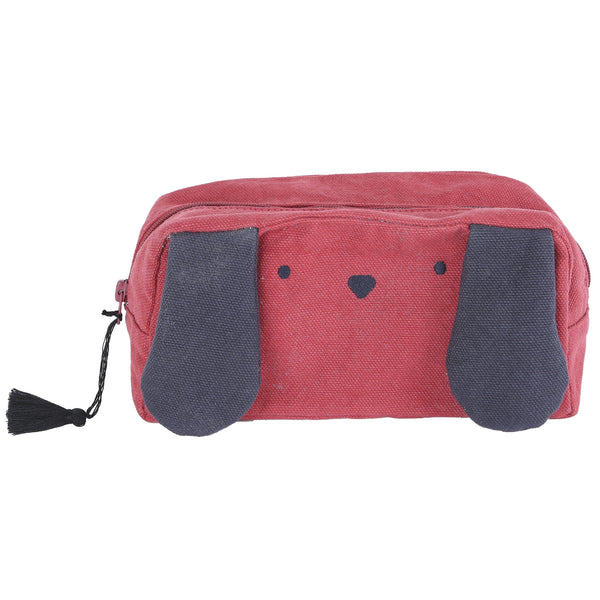 Toutou Dog Pencil Case in Fire Red