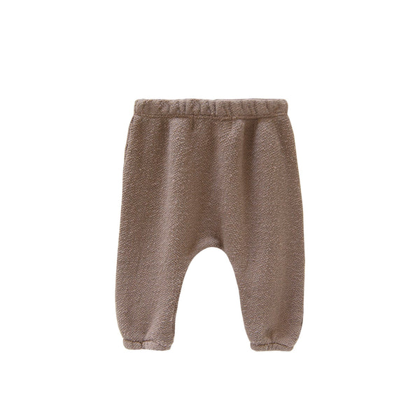Go Gently Nation,Textured French Terry Baby Pant in Mud,CouCou,Baby Boy Clothes