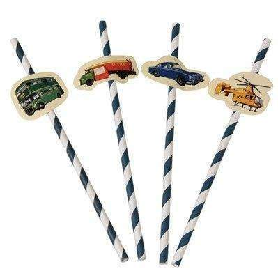 Vintage Transport Party Straws