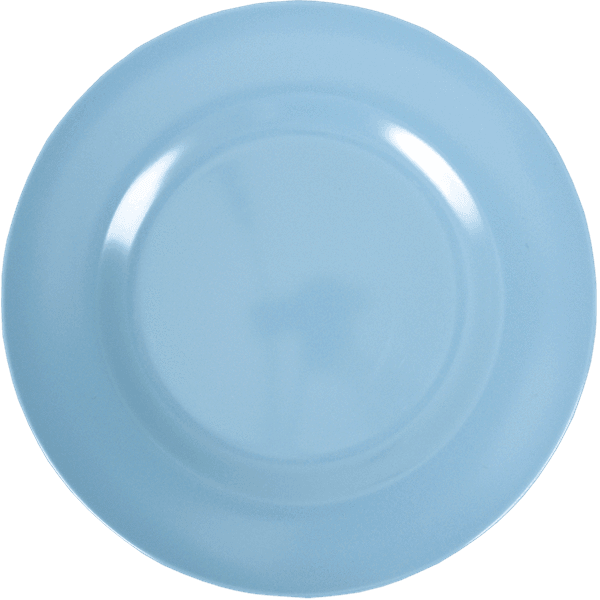 RICE,Kids Melamine Dinner Plate, Turquoise,CouCou,Kitchenware