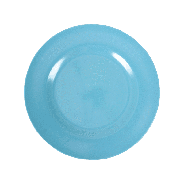RICE,Kids Melamine Lunch Plate, Turquoise,CouCou,Kitchenware