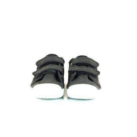 Velcro Strap, Boy Toddler Shoes, Charcoal Grey