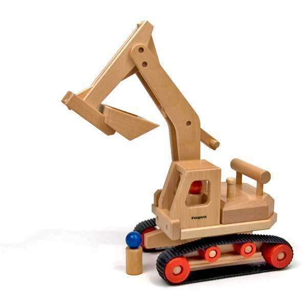 Fagus,Wooden Excavator,CouCou,Toy