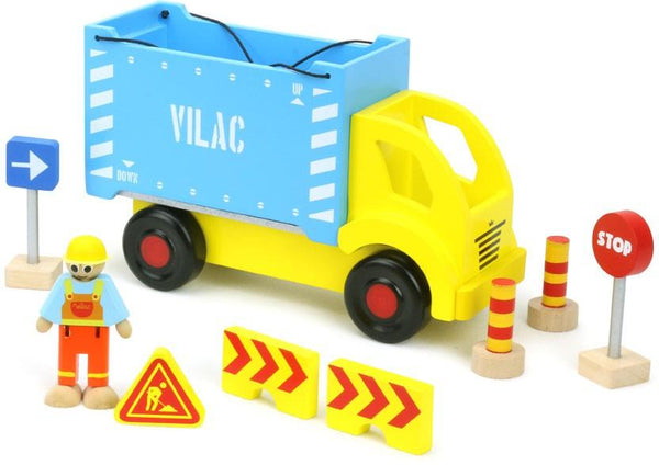 Vilac,Wooden Container Truck and Accessories,CouCou,Toy