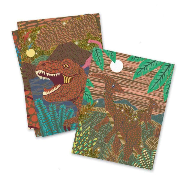 Djeco,Dinosaurs Scratch Cards,CouCou,Arts & Crafts