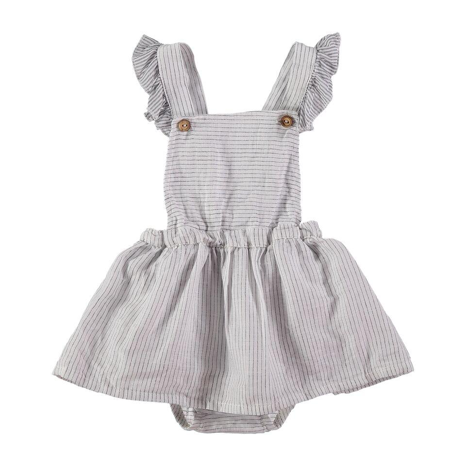 Búho,Elise Stripes Baby Girl Dress,CouCou,Baby Girl Clothes